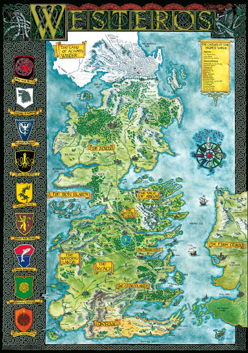 The Continent of Westeros